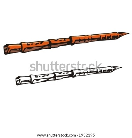 Music Instrument Series. Vector illustration of a clarinet. - stock vector