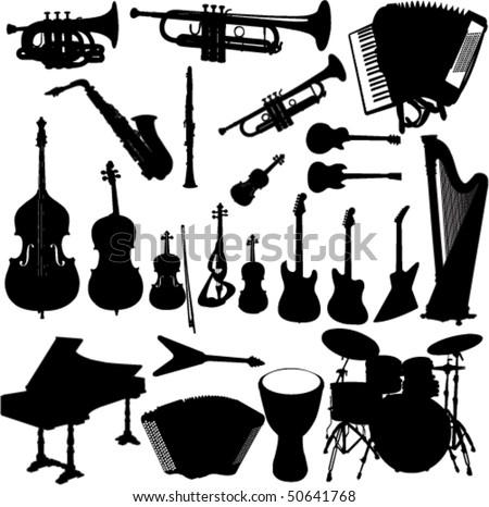 music instrument vector - stock vector