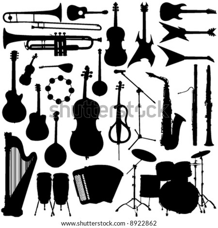 music instrument vector - stock vector