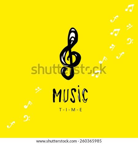 Music key. - stock vector
