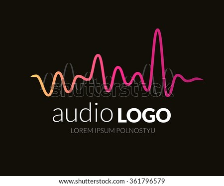 Music Logo concept sound wave, studio, music, DJ, audio system, store, party. Brand, branding, company, corporate, identity, logotype. Clean and modern stylish design - stock vector