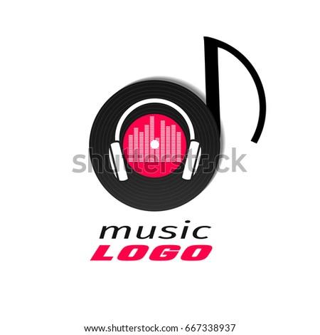 music logo design concept business creative icon for musical company