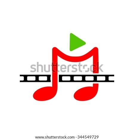 Music Media Film - stock vector