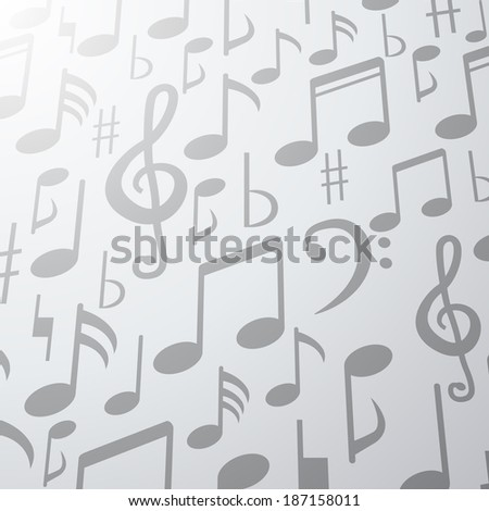 music note background  - stock vector