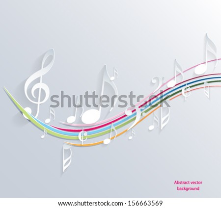 Music note background design. Vector eps10.