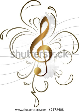 Music note for your design - stock vector