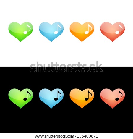 Music Note Heart Icon