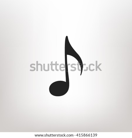 Music note icon vector, Music note icon eps10, Music note icon picture, Music note icon flat, Music note icon, Music note web icon, Music note icon art, Music note icon drawing, Music note icon  - stock vector