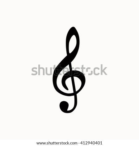 Music note isotated icon. Vector music note silhouette illustration. Concept of melody sign music note. Black music note isotated for your design. Shape of music note isolated. - stock vector