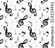 Music note seamless, vector illustration - stock vector