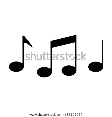 Music Note Symbol Stock Vector 688923757 Shutterstock