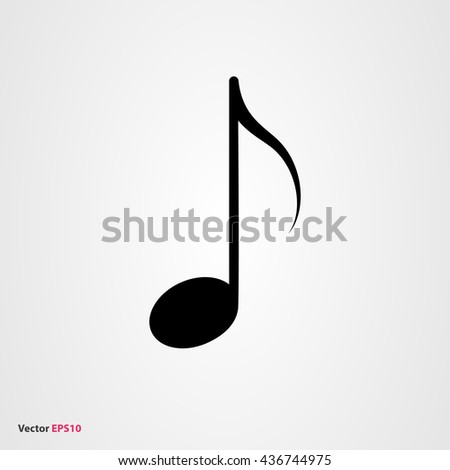 Music note vector icon - stock vector