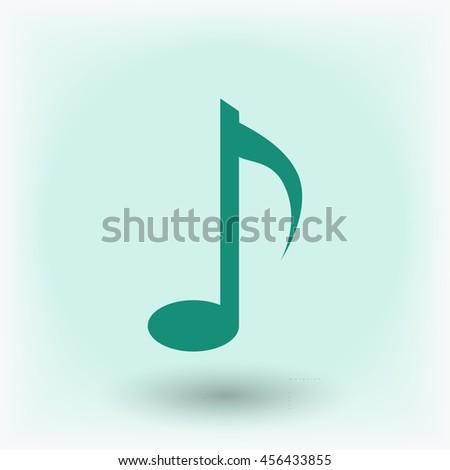Music note vector icon - stock vector