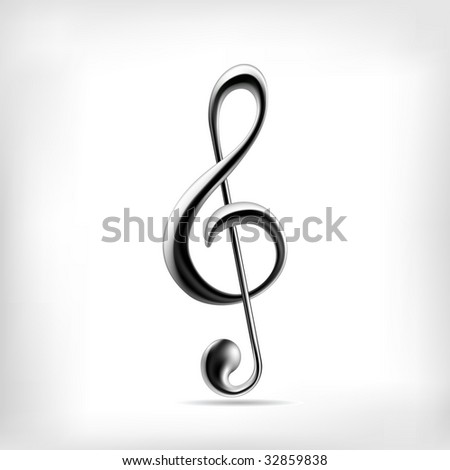 Music note (vector). Music icon.  - stock vector