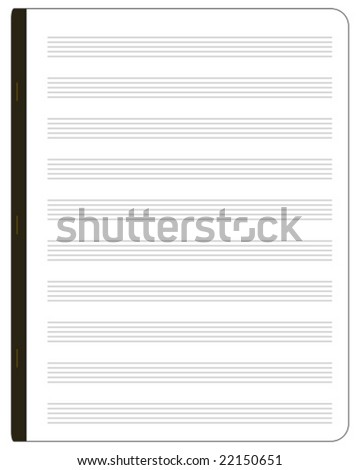 Music notepad vector graphics - stock vector