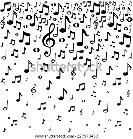 Music notes background.  Vector Illustration - stock vector