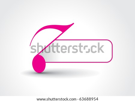 Music notes banner design, vector illustration - stock vector