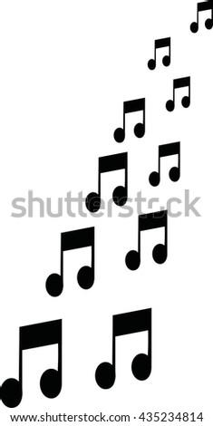 music notes flying stock vector 435234814 shutterstock rh shutterstock com Music Notes Single Music Notes