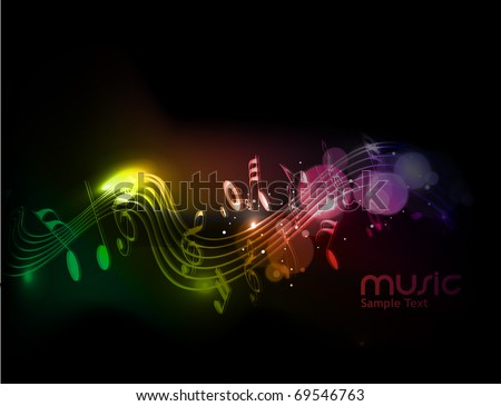 Music notes for design use, vector illustration - stock vector