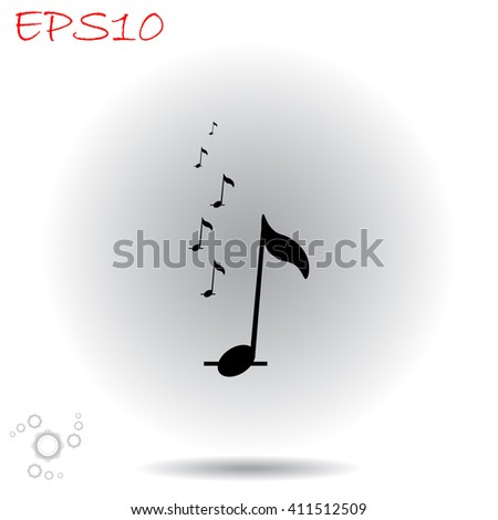 Music notes icon. Simple black vector symbol. Logo for web. Image for business. - stock vector
