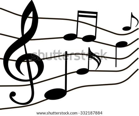 music notes musical staff vector stock vector 2018 332187884 rh shutterstock com Music Notes Clip Art Music Notes Clip Art