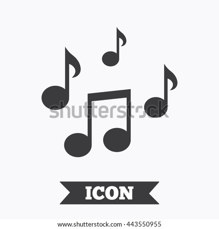 Music notes sign icon. Musical symbol. Graphic design element. Flat music notes symbol on white background. Vector - stock vector