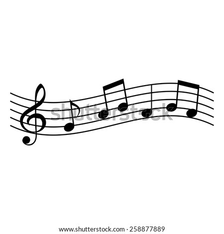 Music notes. Vector illustration. - stock vector