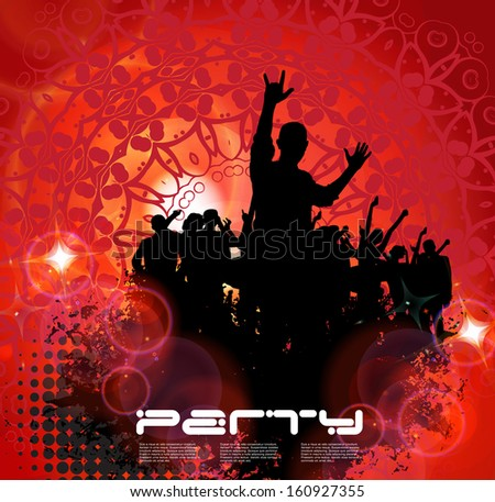 Music Party Background. Vector - stock vector