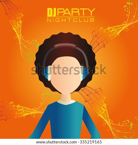 Music party festival graphic design, vector illustration