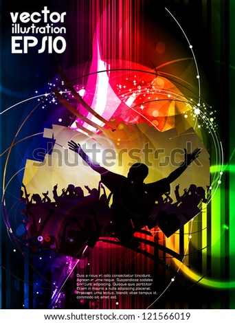 Music party illustration - stock vector