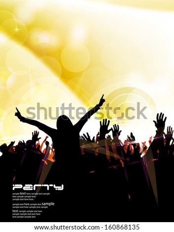 Music party illustration. Vector - stock vector