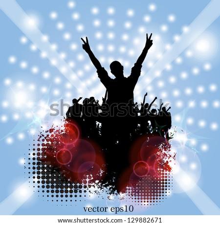 Music party. Vector - stock vector