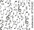 music pattern - stock vector