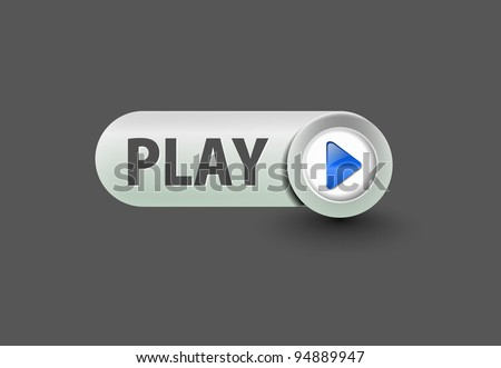music play button for web design element. - stock vector