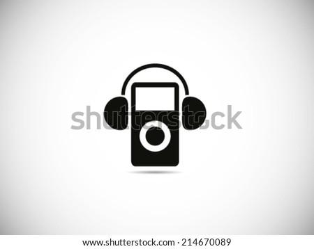 Music Player Headset - stock vector