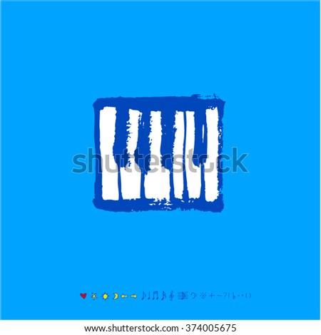Music poster illustration / Hand drawn illustration - vector - stock vector