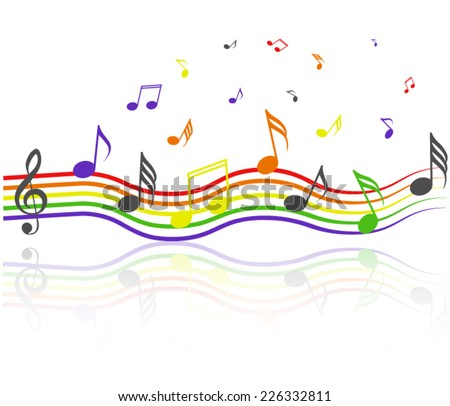 Music rainbow - stock vector