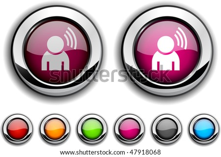 Music realistic buttons. Vector illustration. - stock vector