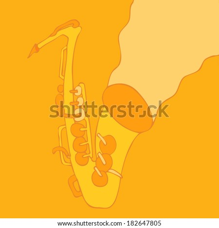 Music, saxophone, JAZZ concert, Music background - stock vector