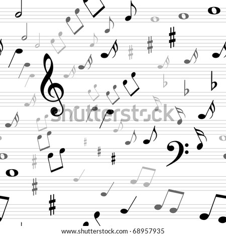 Music seamless - stock vector