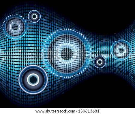 Music sound wave abstract background vector - stock vector