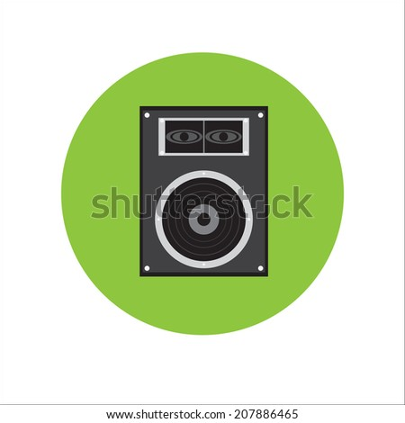 Music Speaker. Vector illustration