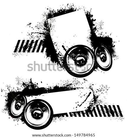 Music splatter - stock vector