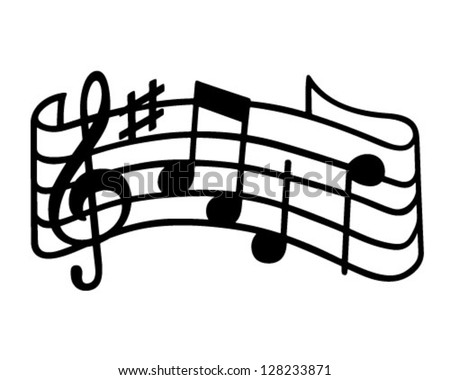 music staff retro clipart illustration stock vector hd royalty free rh shutterstock com music staff clip art free music staff clip art black and white