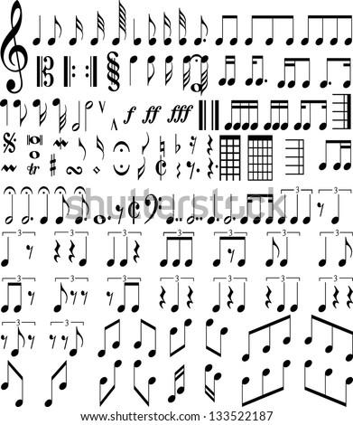 Music Symbols Stock Vector 133522187 Shutterstock