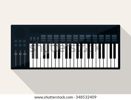 Music technology equipment graphic design, vector illustration eps10