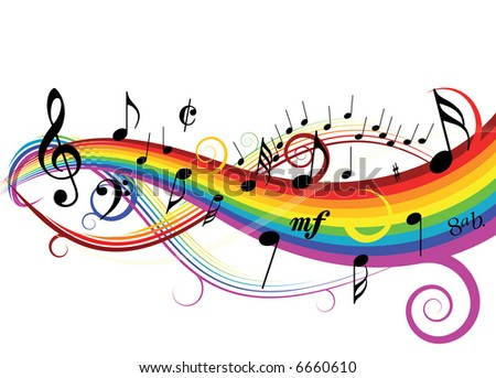 Music theme - stock vector
