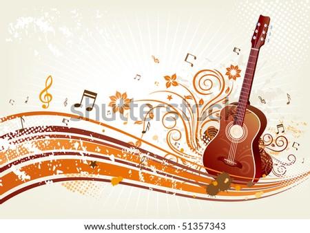 music themed design element - stock vector