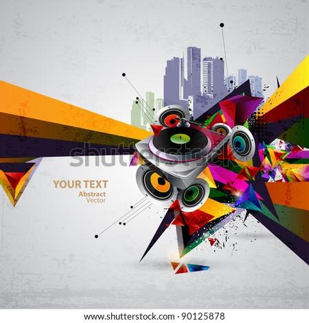 music urban vector - stock vector