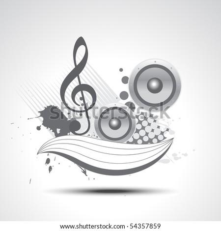 music vector art elements illustration design - stock vector